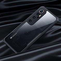 Xiaomi Mi 10 Ultra用ハイブリットバンパーケース クリア透明 プラスチック 鏡面 カバー Xiaomi ブラック