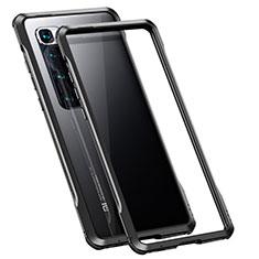 Xiaomi Mi 10 Ultra用ケース 高級感 手触り良い アルミメタル 製の金属製 バンパー カバー Xiaomi ブラック