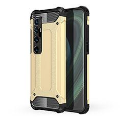 Xiaomi Mi 10 Ultra用ハイブリットバンパーケース プラスチック 兼シリコーン カバー Xiaomi ゴールド