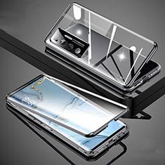 Xiaomi Mi 10 Ultra用ケース 高級感 手触り良い アルミメタル 製の金属製 360度 フルカバーバンパー 鏡面 カバー M02 Xiaomi ブラック