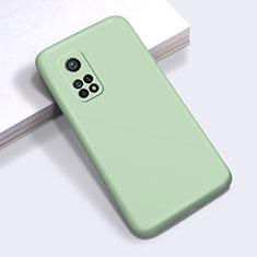 Xiaomi Mi 10T 5G用360度 フルカバー極薄ソフトケース シリコンケース 耐衝撃 全面保護 バンパー Xiaomi ライトグリーン