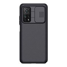 Xiaomi Mi 10T 5G用シリコンケース ソフトタッチラバー ツイル Xiaomi ブラック