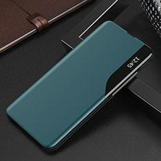 Xiaomi Mi 10T 5G用手帳型 レザーケース スタンド カバー L15 Xiaomi シアン