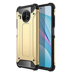 Xiaomi Mi 10T Lite 5G用ハイブリットバンパーケース プラスチック 兼シリコーン カバー R01 Xiaomi ゴールド