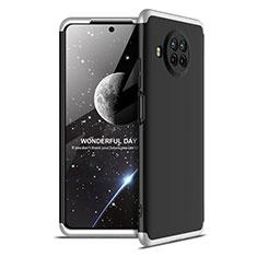 Xiaomi Mi 10T Lite 5G用ハードケース プラスチック 質感もマット 前面と背面 360度 フルカバー Xiaomi シルバー・ブラック