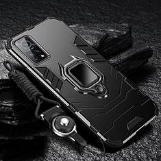 Xiaomi Mi 10T Pro 5G用ハイブリットバンパーケース プラスチック アンド指輪 マグネット式 S01 Xiaomi ブラック