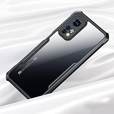 Xiaomi Mi 10T Pro 5G用ハイブリットバンパーケース クリア透明 プラスチック 鏡面 カバー Xiaomi ブラック