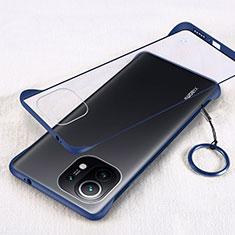 Xiaomi Mi 11 5G用ハードカバー クリスタル クリア透明 H01 Xiaomi ネイビー