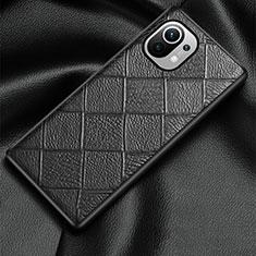 Xiaomi Mi 11 5G用ケース 高級感 手触り良いレザー柄 S02 Xiaomi ブラック