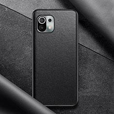 Xiaomi Mi 11 5G用ケース 高級感 手触り良いレザー柄 Xiaomi ブラック