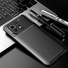 Xiaomi Mi 11 5G用シリコンケース ソフトタッチラバー ツイル カバー Xiaomi ブラック