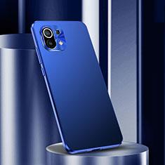 Xiaomi Mi 11 5G用ケース 高級感 手触り良い アルミメタル 製の金属製 カバー M01 Xiaomi ネイビー