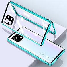 Xiaomi Mi 11 5G用ケース 高級感 手触り良い アルミメタル 製の金属製 360度 フルカバーバンパー 鏡面 カバー Xiaomi グリーン
