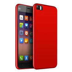 Xiaomi Mi 3用極薄ソフトケース シリコンケース 耐衝撃 全面保護 Xiaomi レッド
