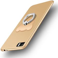 Xiaomi Mi 3用極薄ソフトケース シリコンケース 耐衝撃 全面保護 アンド指輪 Xiaomi ゴールド