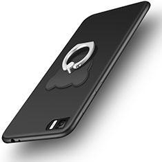 Xiaomi Mi 3用極薄ソフトケース シリコンケース 耐衝撃 全面保護 アンド指輪 Xiaomi ブラック