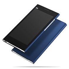 Xiaomi Mi 3用ハードケース プラスチック 質感もマット M01 Xiaomi ネイビー