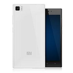 Xiaomi Mi 3用極薄ソフトケース シリコンケース 耐衝撃 全面保護 クリア透明 Xiaomi クリア