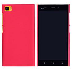 Xiaomi Mi 3用ハードケース プラスチック メッシュ デザイン Xiaomi レッド