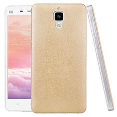 Xiaomi Mi 4 LTE用ハードケース プラスチック レザー柄 Xiaomi ゴールド