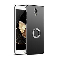 Xiaomi Mi 4 LTE用ハードケース プラスチック 質感もマット アンド指輪 Xiaomi ブラック