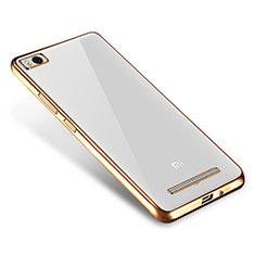 Xiaomi Mi 4C用極薄ソフトケース シリコンケース 耐衝撃 全面保護 クリア透明 H01 Xiaomi ゴールド