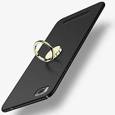 Xiaomi Mi 4C用ハードケース プラスチック 質感もマット アンド指輪 Xiaomi ブラック