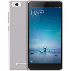 Xiaomi Mi 4C用極薄ソフトケース シリコンケース 耐衝撃 全面保護 クリア透明 Xiaomi グレー