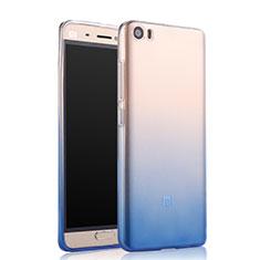 Xiaomi Mi 5用極薄ソフトケース グラデーション 勾配色 クリア透明 Xiaomi ネイビー