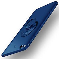 Xiaomi Mi 5S用ハードケース プラスチック 質感もマット アンド指輪 Xiaomi ネイビー