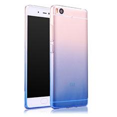 Xiaomi Mi 5S用極薄ソフトケース グラデーション 勾配色 クリア透明 Xiaomi ネイビー