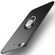 Xiaomi Mi 5S用ハードケース プラスチック 質感もマット アンド指輪 A04 Xiaomi ブラック