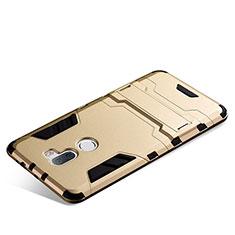 Xiaomi Mi 5S Plus用ハイブリットバンパーケース スタンド プラスチック 兼シリコーン Xiaomi ゴールド