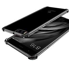 Xiaomi Mi 6用極薄ソフトケース シリコンケース 耐衝撃 全面保護 クリア透明 H03 Xiaomi ブラック