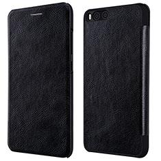 Xiaomi Mi 6用手帳型 レザーケース スタンド L01 Xiaomi ブラック