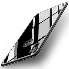 Xiaomi Mi 6X用ハイブリットバンパーケース プラスチック 鏡面 カバー Xiaomi ブラック