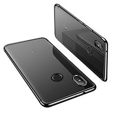 Xiaomi Mi 6X用極薄ソフトケース シリコンケース 耐衝撃 全面保護 クリア透明 H02 Xiaomi ブラック