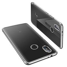 Xiaomi Mi 6X用極薄ソフトケース シリコンケース 耐衝撃 全面保護 クリア透明 H02 Xiaomi シルバー