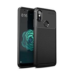 Xiaomi Mi 6X用シリコンケース ソフトタッチラバー ツイル カバー Xiaomi ブラック