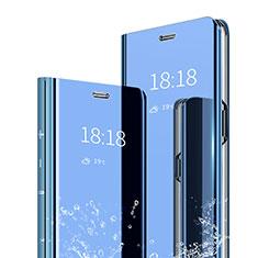 Xiaomi Mi 6X用手帳型 レザーケース スタンド 鏡面 カバー Xiaomi ネイビー