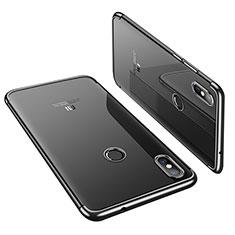 Xiaomi Mi 8用極薄ソフトケース シリコンケース 耐衝撃 全面保護 クリア透明 H01 Xiaomi ブラック