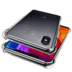 Xiaomi Mi 8 Explorer用極薄ソフトケース シリコンケース 耐衝撃 全面保護 クリア透明 T06 Xiaomi クリア