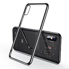 Xiaomi Mi 8 Explorer用極薄ソフトケース シリコンケース 耐衝撃 全面保護 クリア透明 H02 Xiaomi ブラック