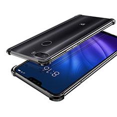 Xiaomi Mi 8 Lite用極薄ソフトケース シリコンケース 耐衝撃 全面保護 クリア透明 H01 Xiaomi ブラック