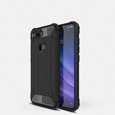 Xiaomi Mi 8 Lite用360度 フルカバー極薄ソフトケース シリコンケース 耐衝撃 全面保護 バンパー Xiaomi ブラック