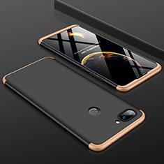 Xiaomi Mi 8 Lite用ハードケース プラスチック 質感もマット 前面と背面 360度 フルカバー Xiaomi ゴールド・ブラック