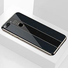 Xiaomi Mi 8 Lite用ハイブリットバンパーケース プラスチック 鏡面 カバー Xiaomi ブラック