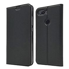 Xiaomi Mi 8 Lite用手帳型 レザーケース スタンド カバー Xiaomi ブラック