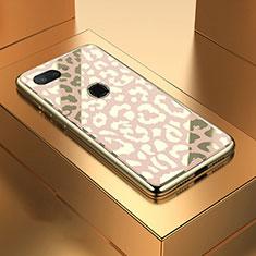 Xiaomi Mi 8 Lite用ハイブリットバンパーケース プラスチック 鏡面 カバー M01 Xiaomi ゴールド