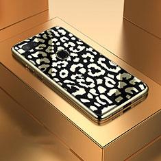 Xiaomi Mi 8 Lite用ハイブリットバンパーケース プラスチック 鏡面 カバー M01 Xiaomi ブラック